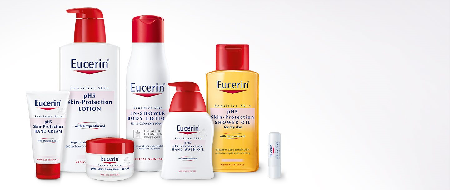 Productos de la gama Eucerin pH5 Skin-Protection